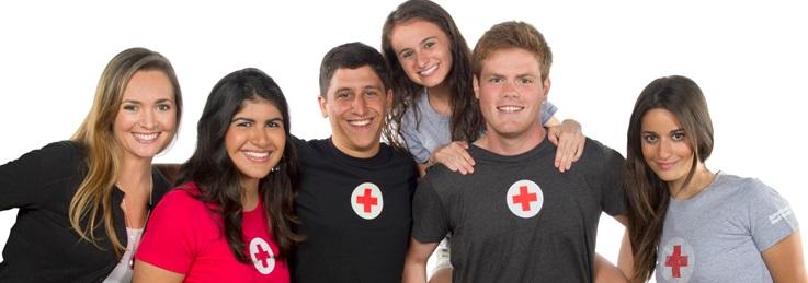 Red cross teen volunteers